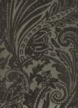 Savile Row SketchTwenty3 Flock Wallpaper Paisley Mocha SR00520 By Tim Wilman For Blendworth